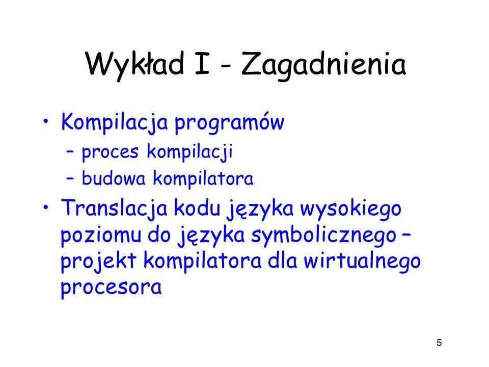 Wykład I - Zagadnienia Kompilacja programów