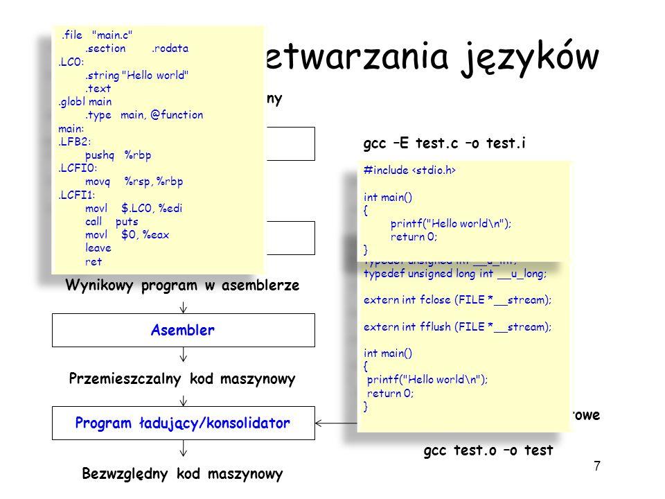 System przetwarzania języków