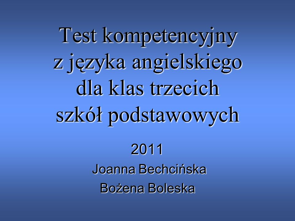 2011 Joanna Bechcińska Bożena Boleska
