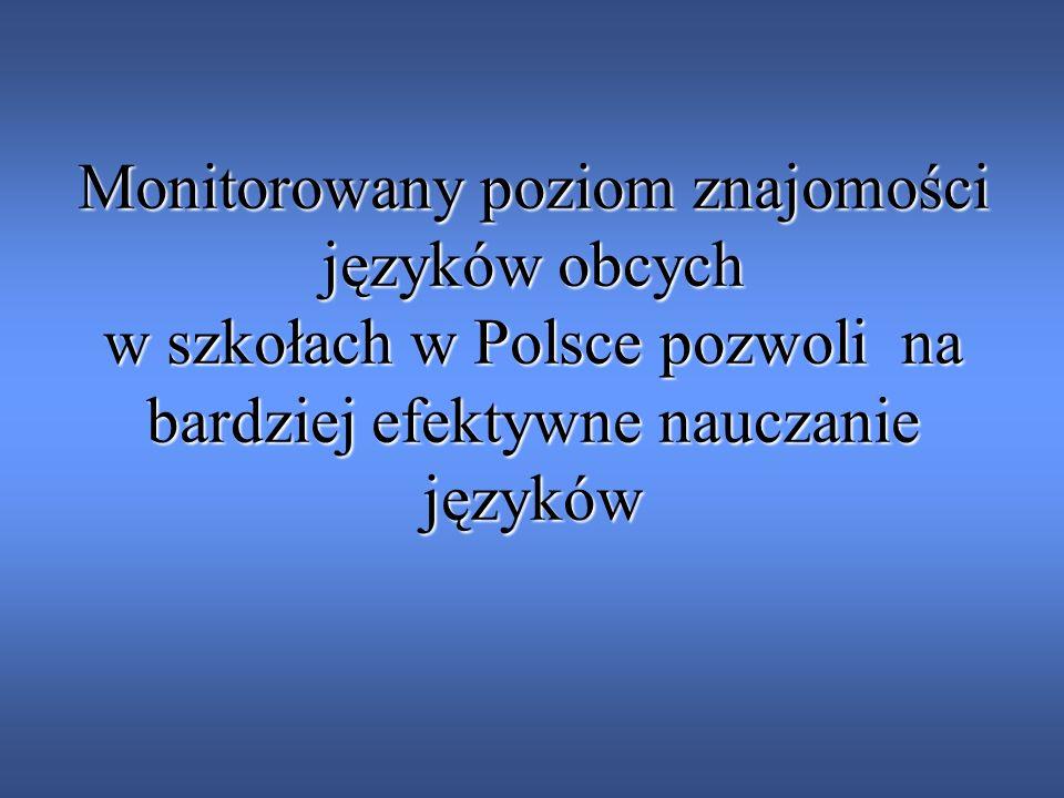Monitorowany poziom znajomości języków obcych w szkołach w Polsce pozwoli na bardziej efektywne nauczanie języków
