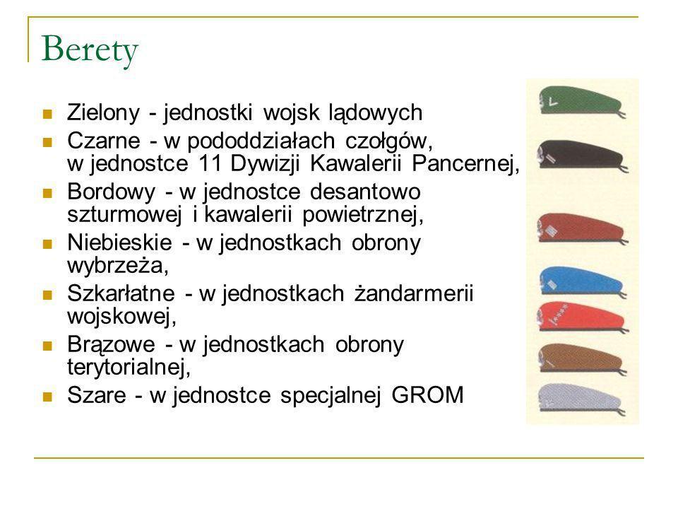 Berety Zielony - jednostki wojsk lądowych