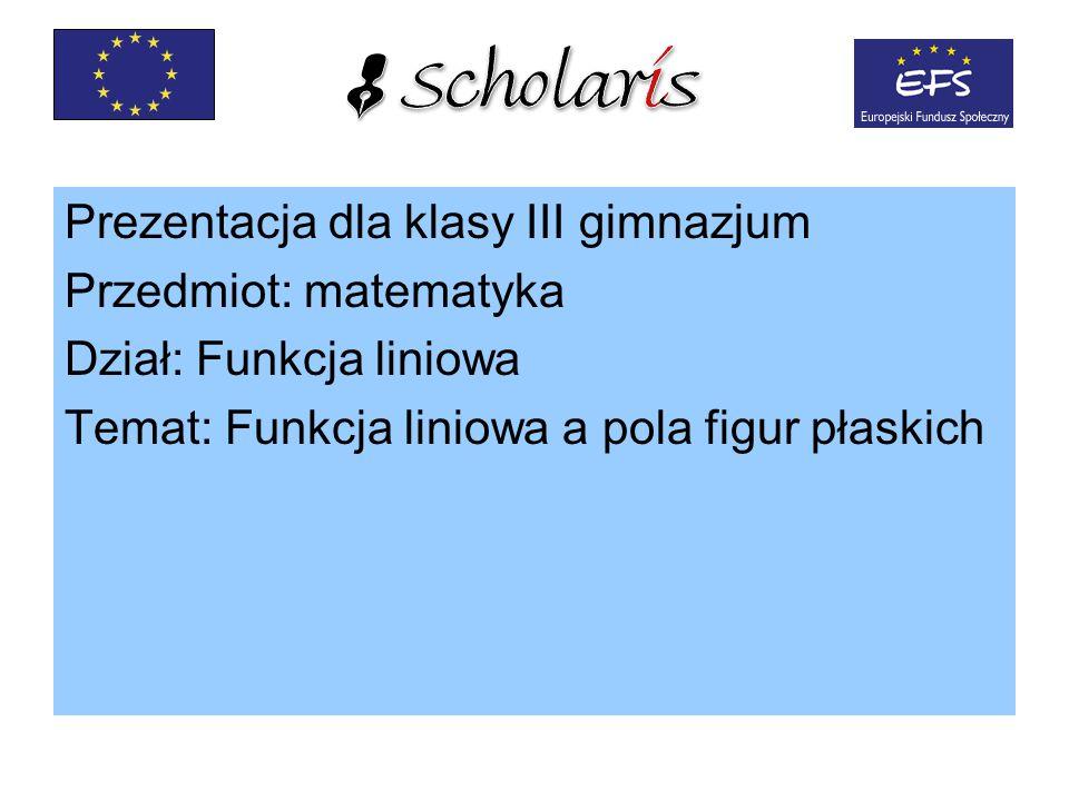 Prezentacja dla klasy III gimnazjum