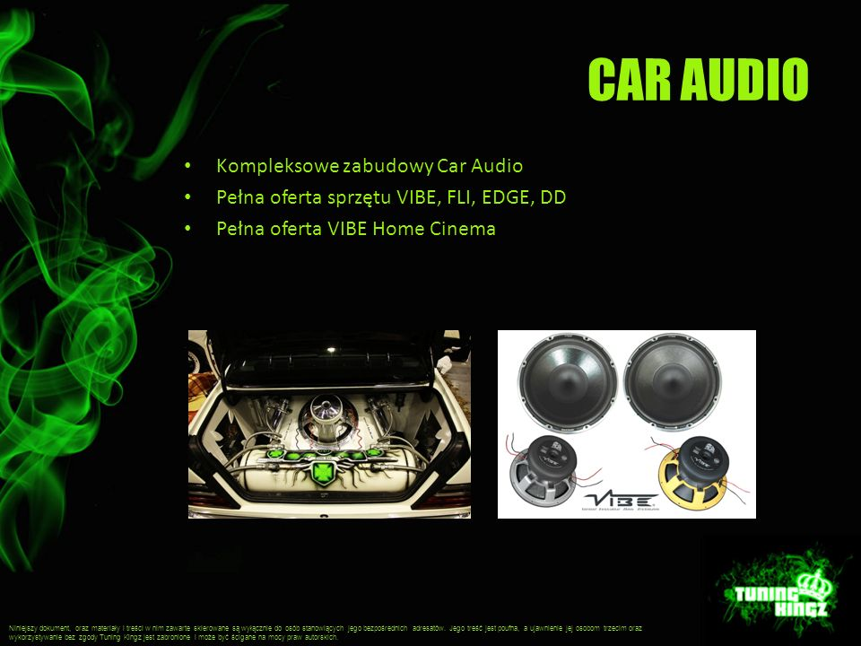 CAR AUDIO Kompleksowe zabudowy Car Audio
