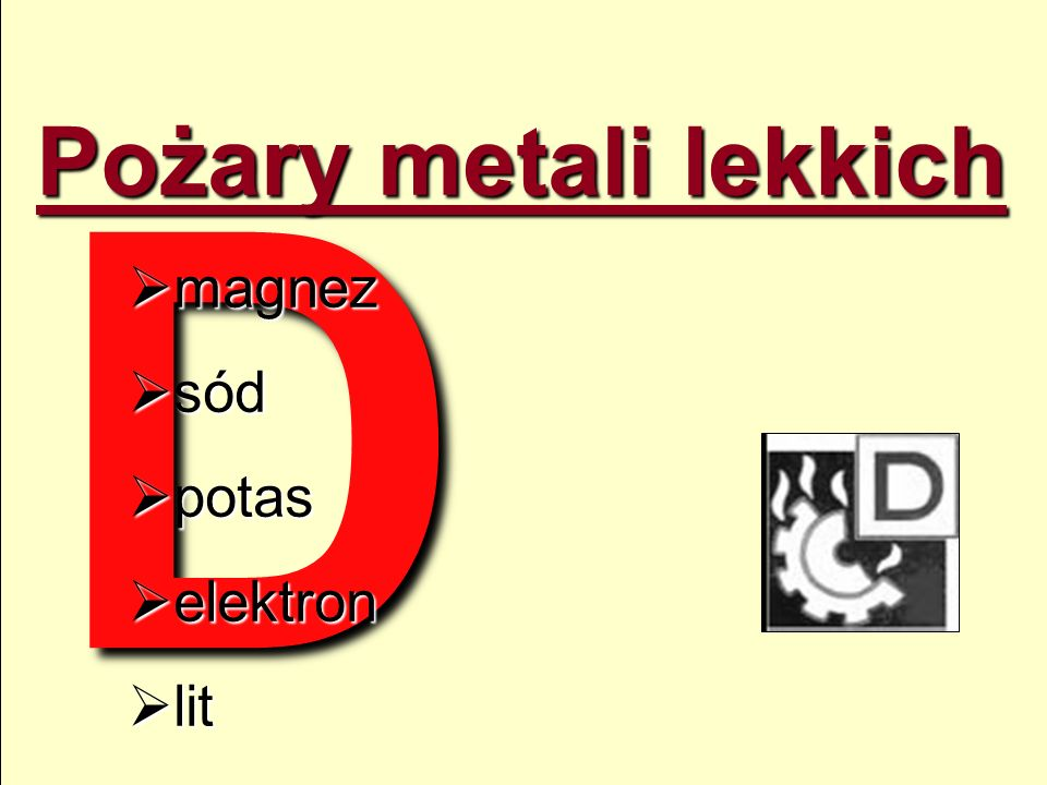 O c h r o n a przeciwpo arowa ppt video online pobierz for Metali online