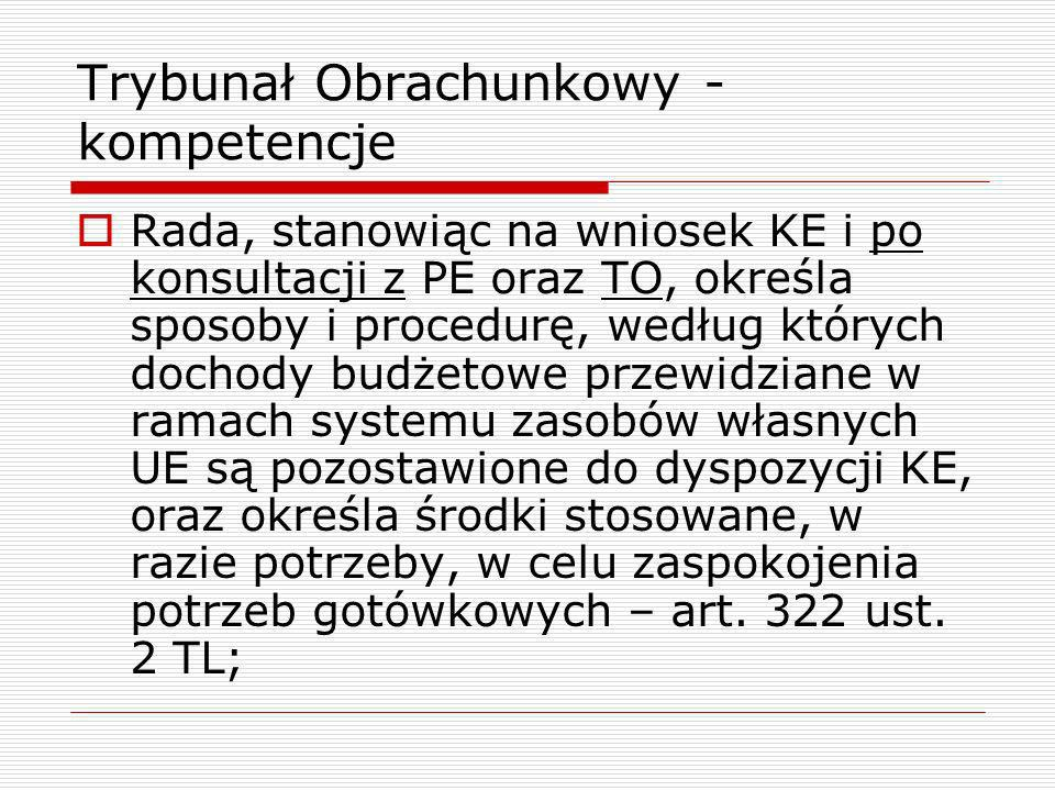 Trybunał Obrachunkowy - kompetencje
