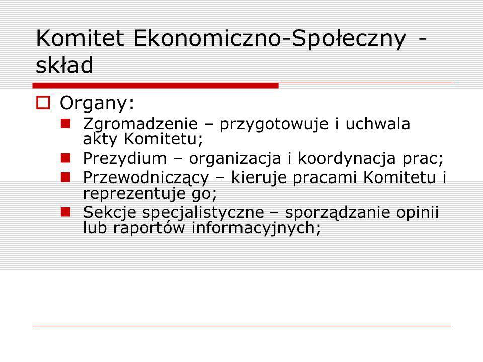 Komitet Ekonomiczno-Społeczny - skład