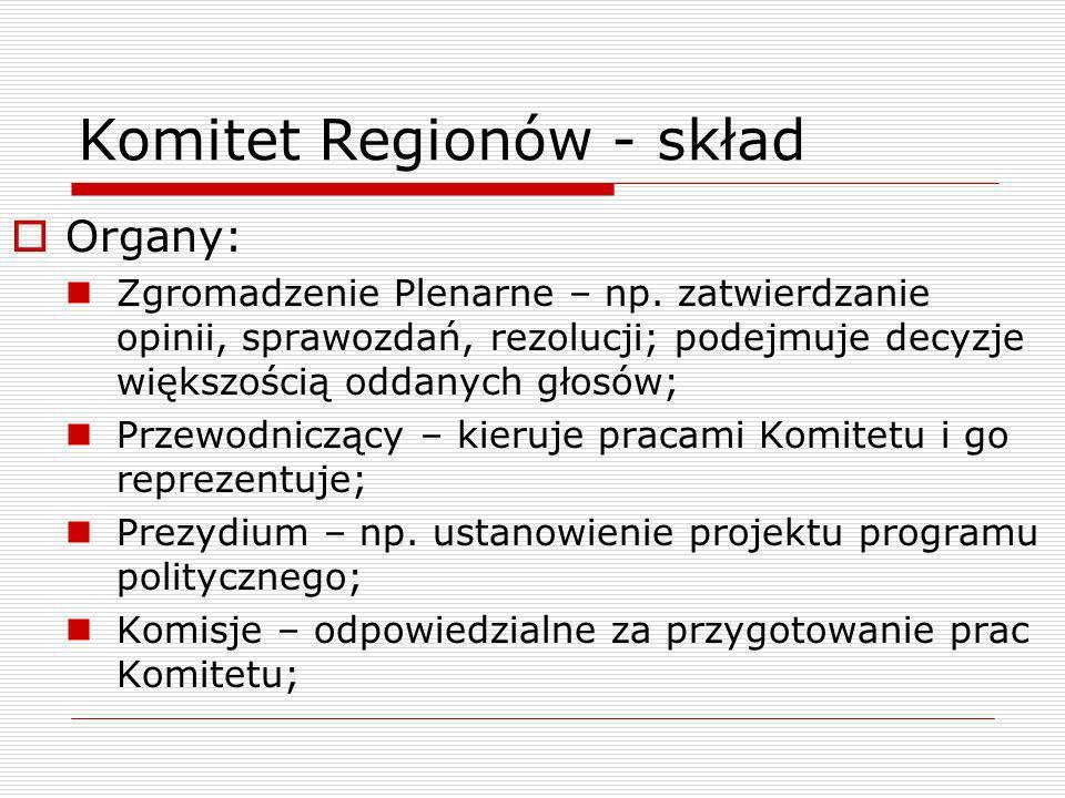 Komitet Regionów - skład