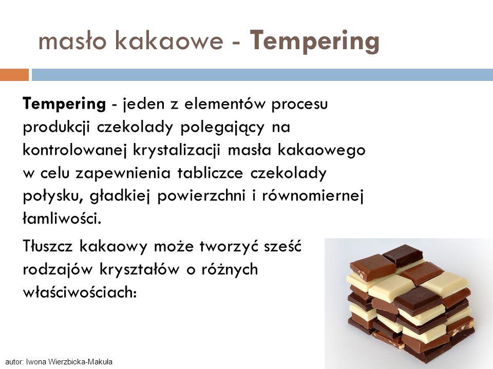 masło kakaowe - Tempering