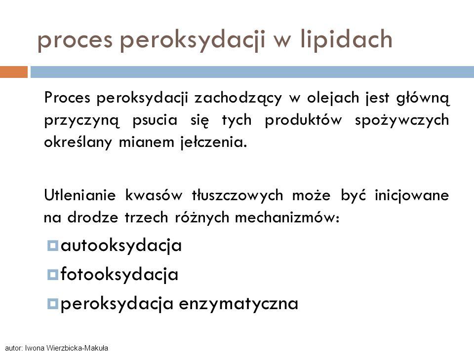proces peroksydacji w lipidach
