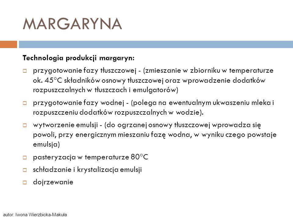 MARGARYNA Technologia produkcji margaryn: