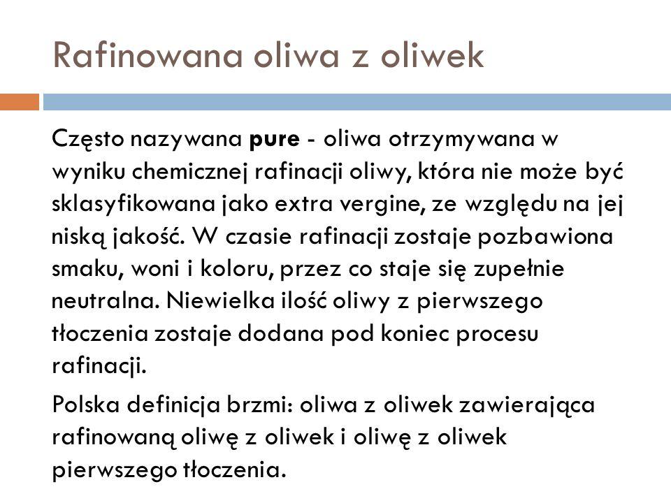 Rafinowana oliwa z oliwek