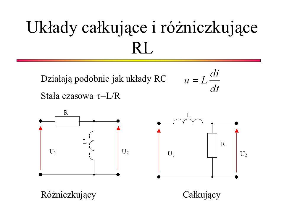 Układy całkujące i różniczkujące RL