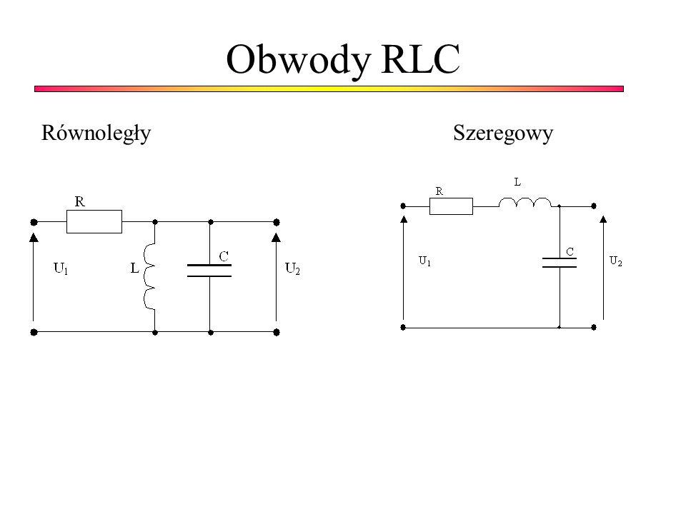 Obwody RLC Równoległy Szeregowy