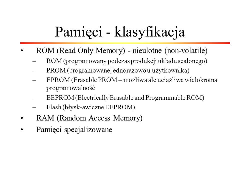 Pamięci - klasyfikacja