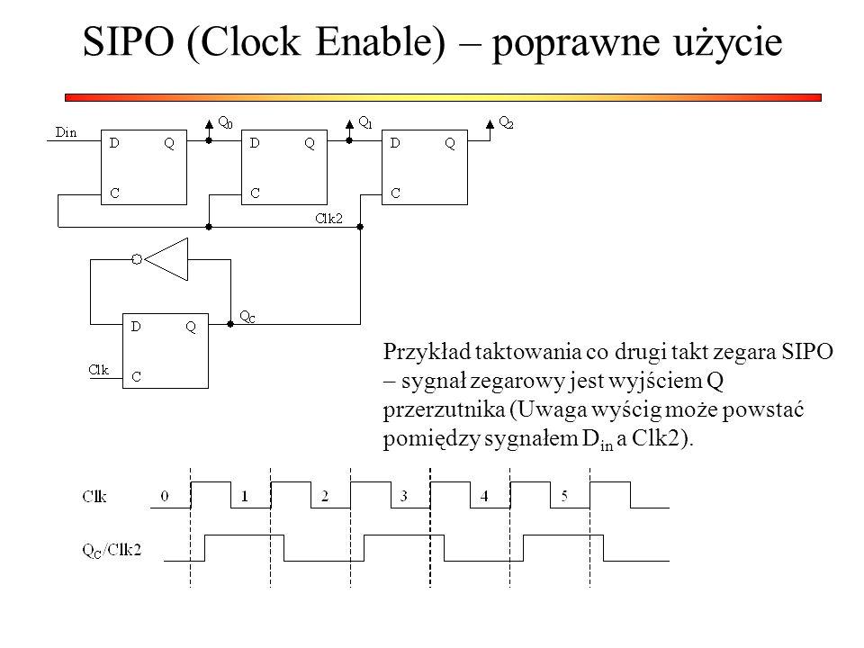 SIPO (Clock Enable) – poprawne użycie