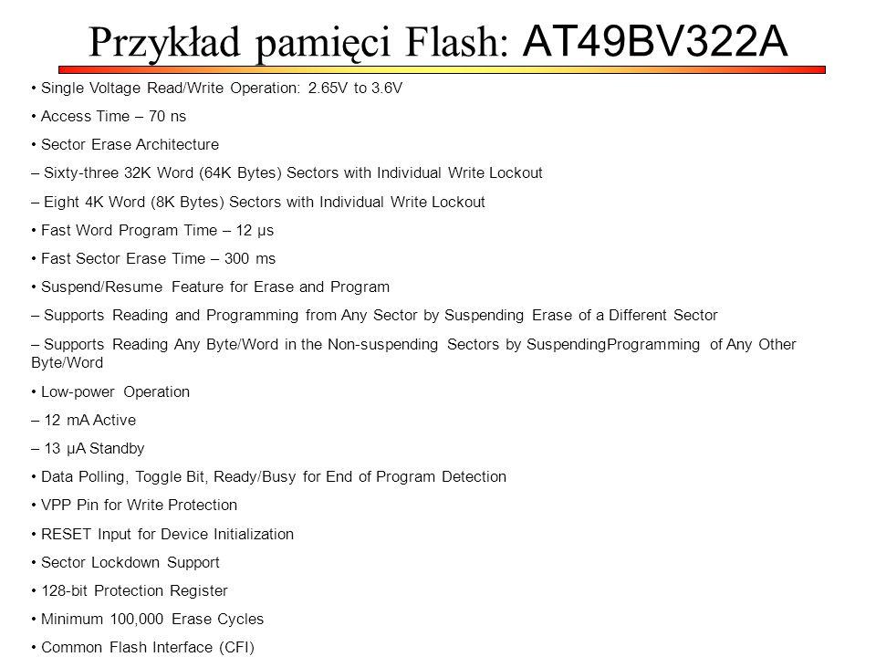 Przykład pamięci Flash: AT49BV322A