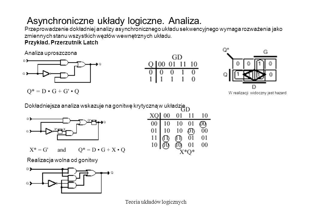 Asynchroniczne układy logiczne. Analiza.
