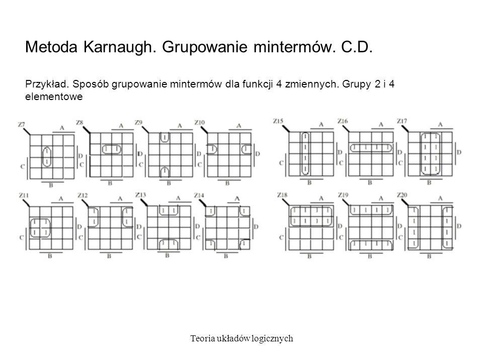 Metoda Karnaugh. Grupowanie mintermów. C.D.