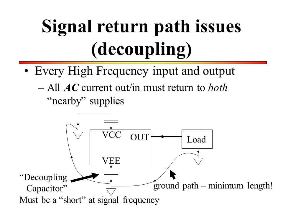 Signal return path issues (decoupling)