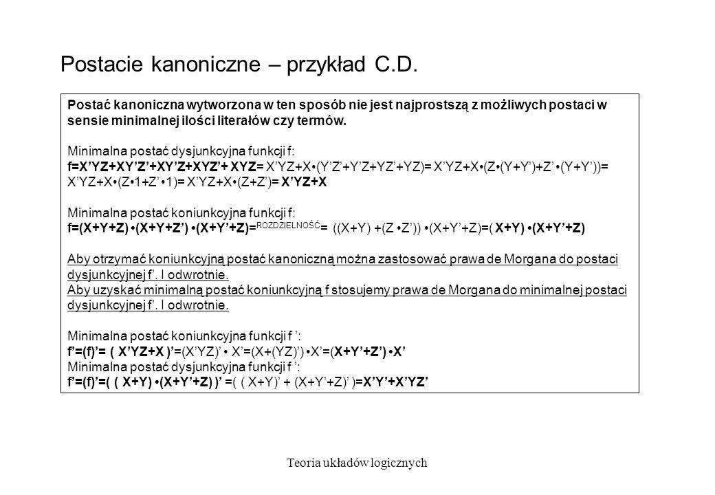 Postacie kanoniczne – przykład C.D.