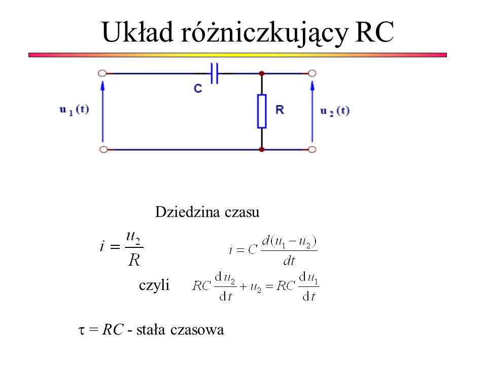 Układ różniczkujący RC