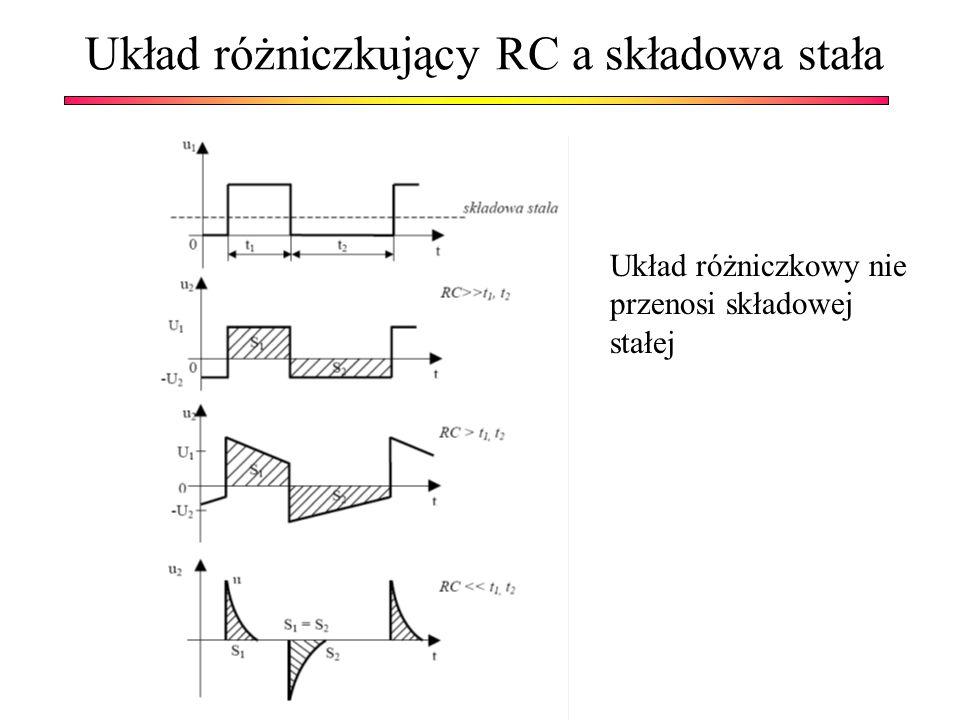 Układ różniczkujący RC a składowa stała