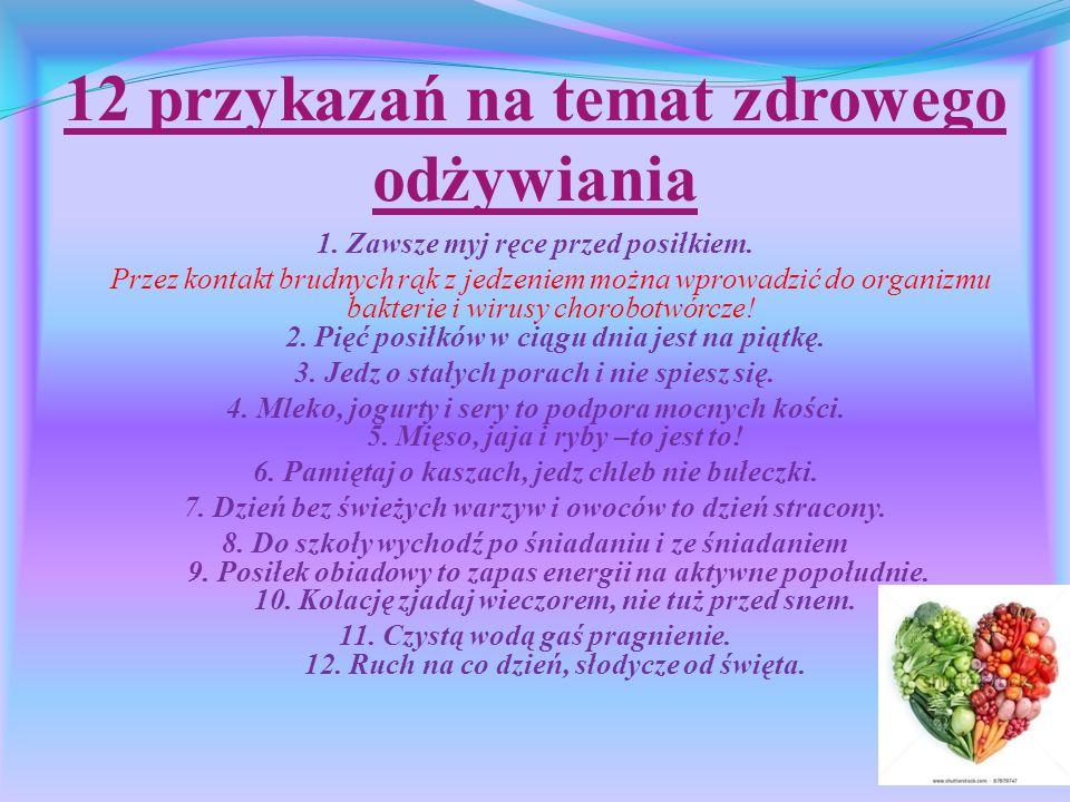 12 przykazań na temat zdrowego odżywiania