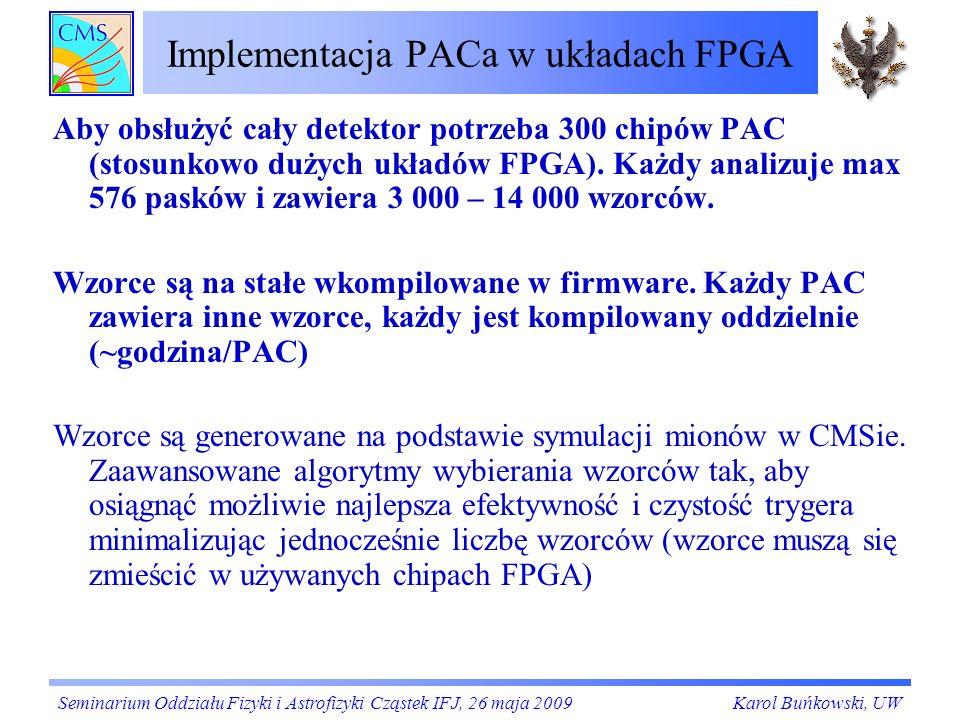 Implementacja PACa w układach FPGA