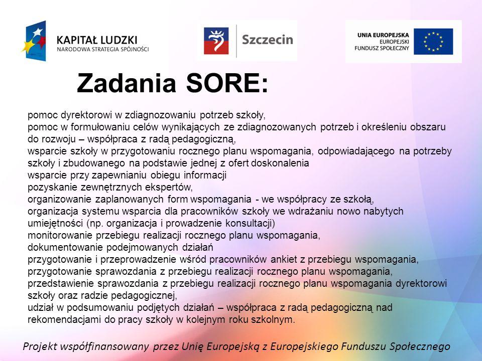Zadania SORE: pomoc dyrektorowi w zdiagnozowaniu potrzeb szkoły,