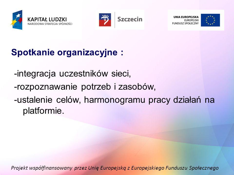Spotkanie organizacyjne :