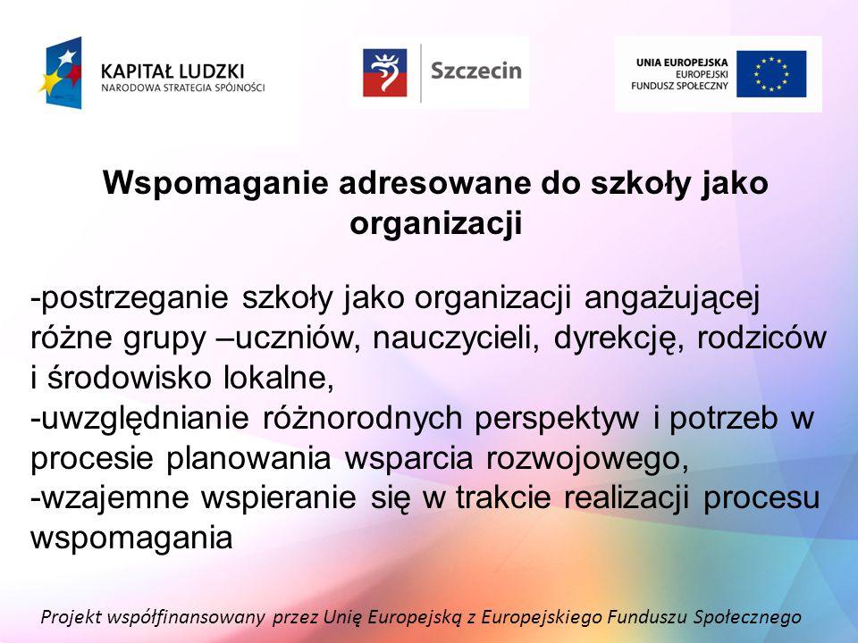 Wspomaganie adresowane do szkoły jako organizacji