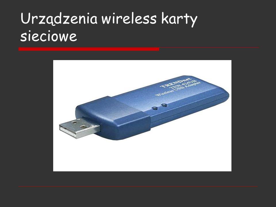 Urządzenia wireless karty sieciowe