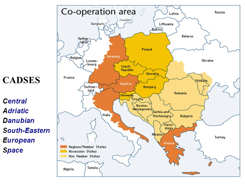 CADSES Central Adriatic Danubian South-Eastern European Space