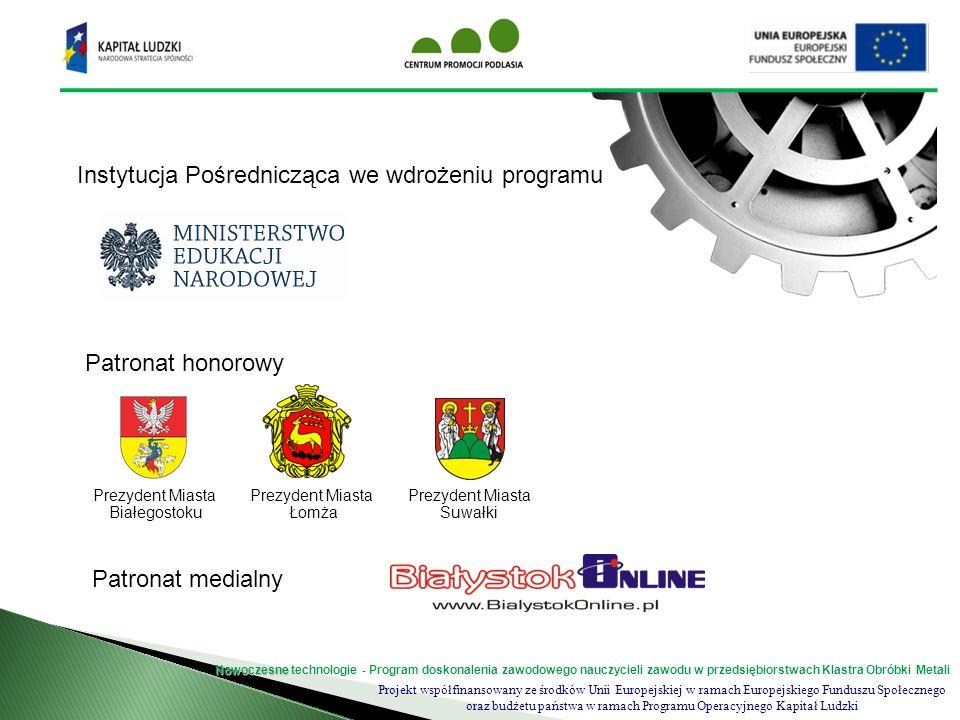 Instytucja Pośrednicząca we wdrożeniu programu