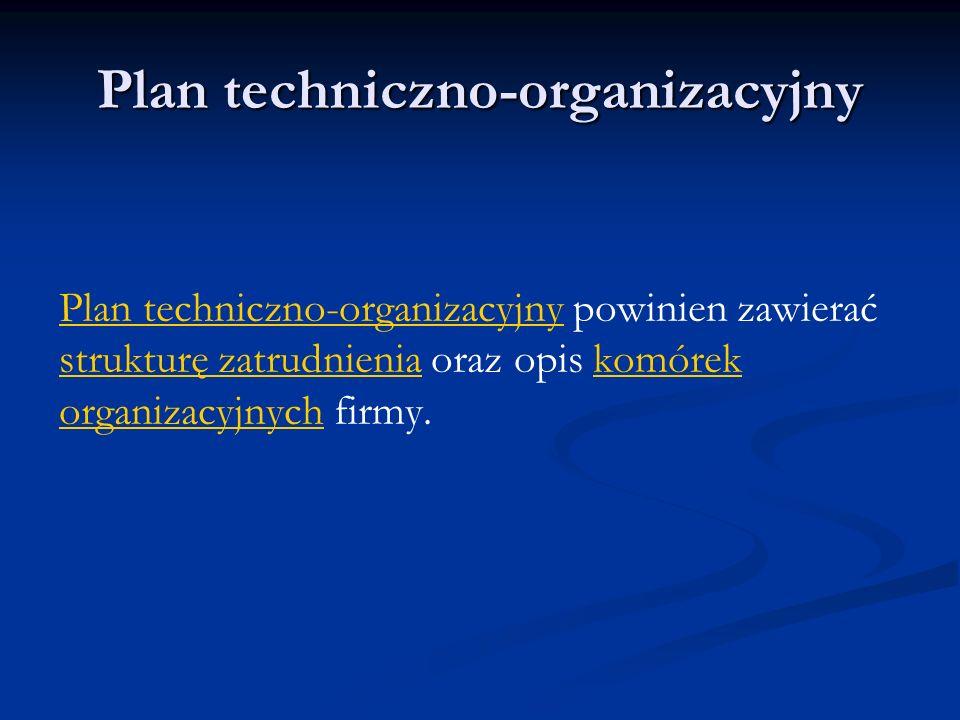 Plan techniczno-organizacyjny