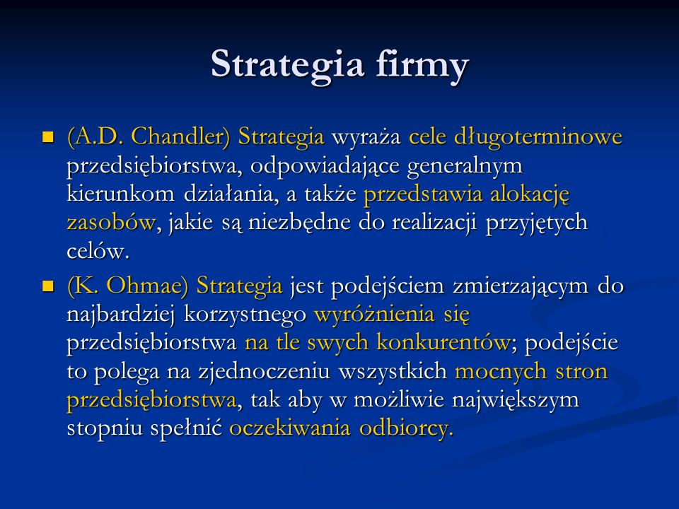 Strategia firmy