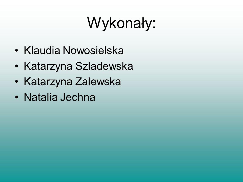 Wykonały: Klaudia Nowosielska Katarzyna Szladewska Katarzyna Zalewska