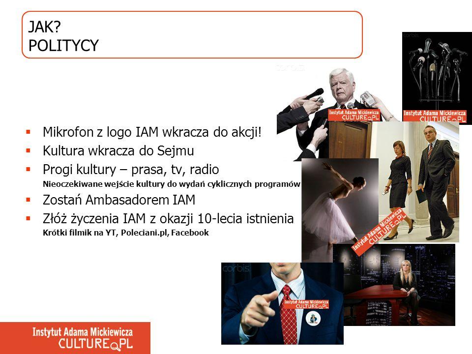 JAK POLITYCY Mikrofon z logo IAM wkracza do akcji!