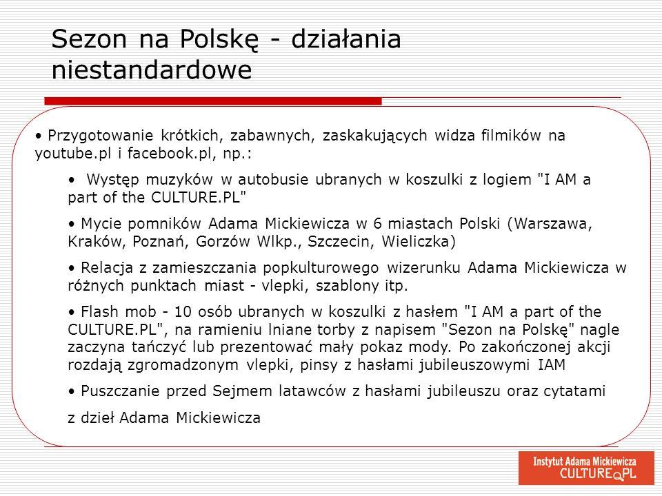 Sezon na Polskę - działania niestandardowe
