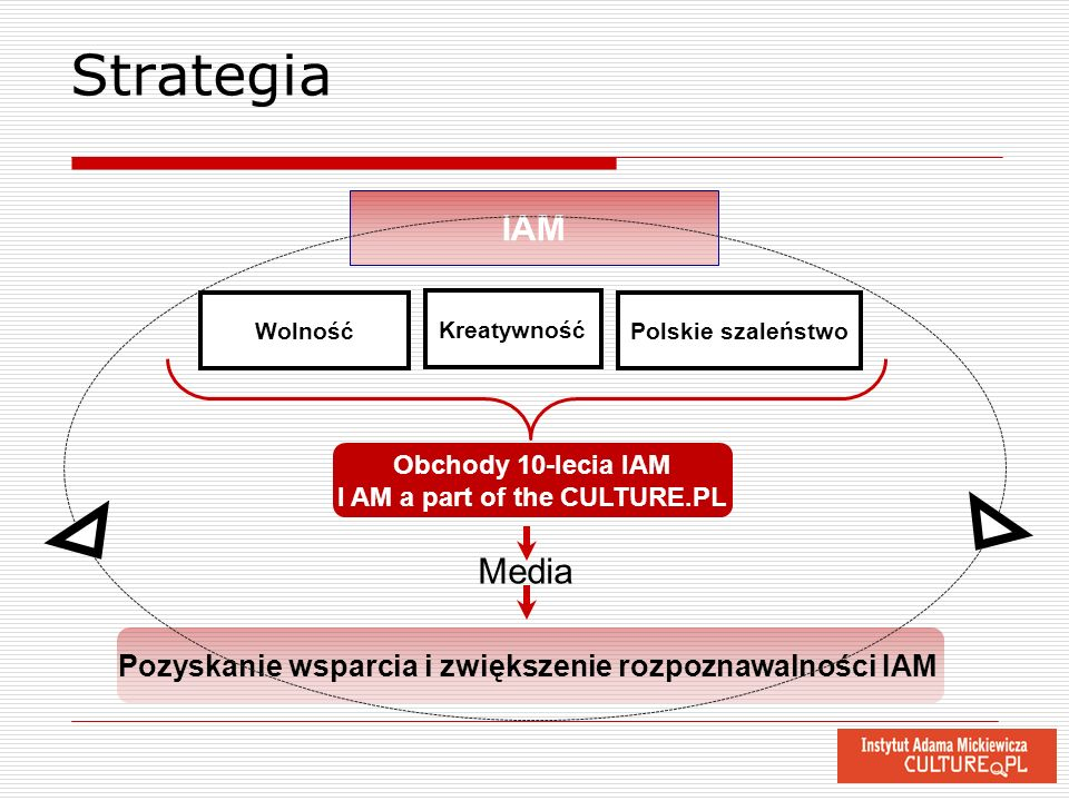 Strategia IAM. Wolność. Kreatywność. Polskie szaleństwo. Obchody 10-lecia IAM. I AM a part of the CULTURE.PL.
