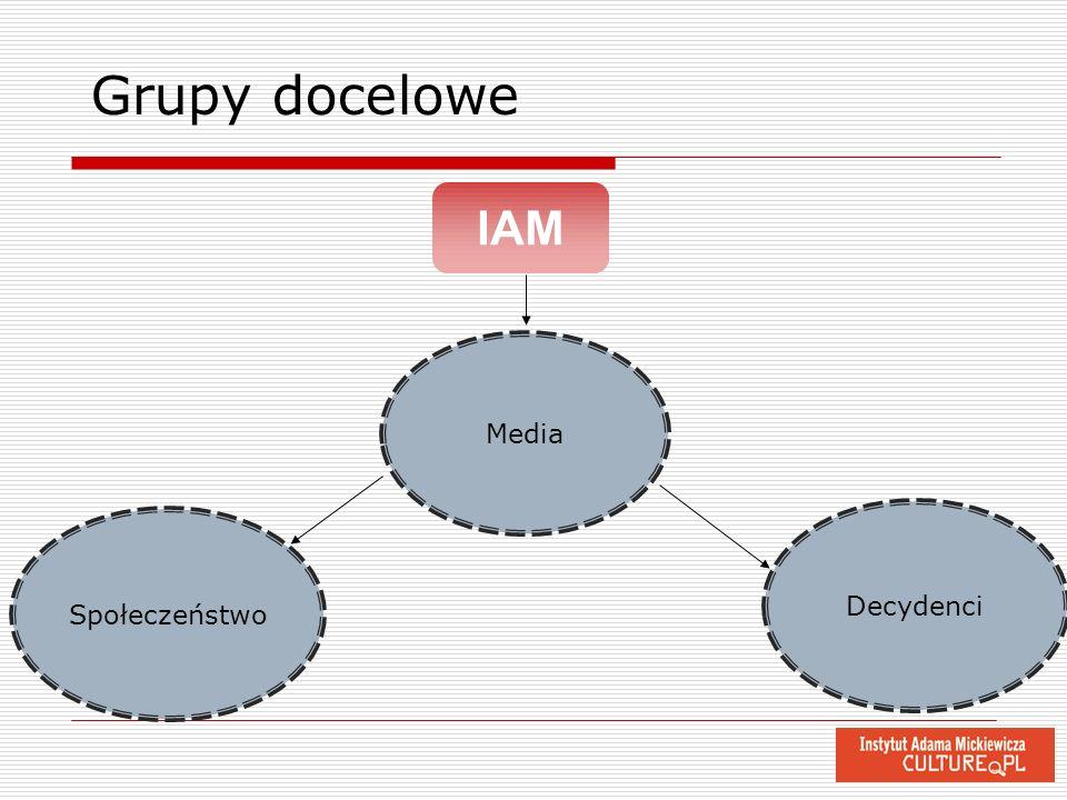 Grupy docelowe IAM Media Decydenci Społeczeństwo