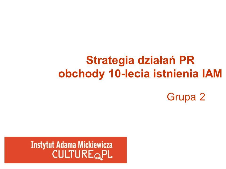 Strategia działań PR obchody 10-lecia istnienia IAM