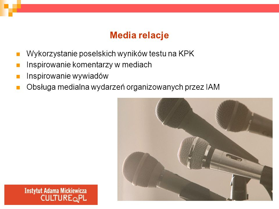 Media relacje Wykorzystanie poselskich wyników testu na KPK