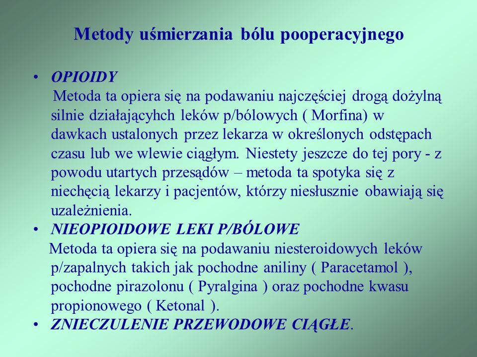 Metody uśmierzania bólu pooperacyjnego