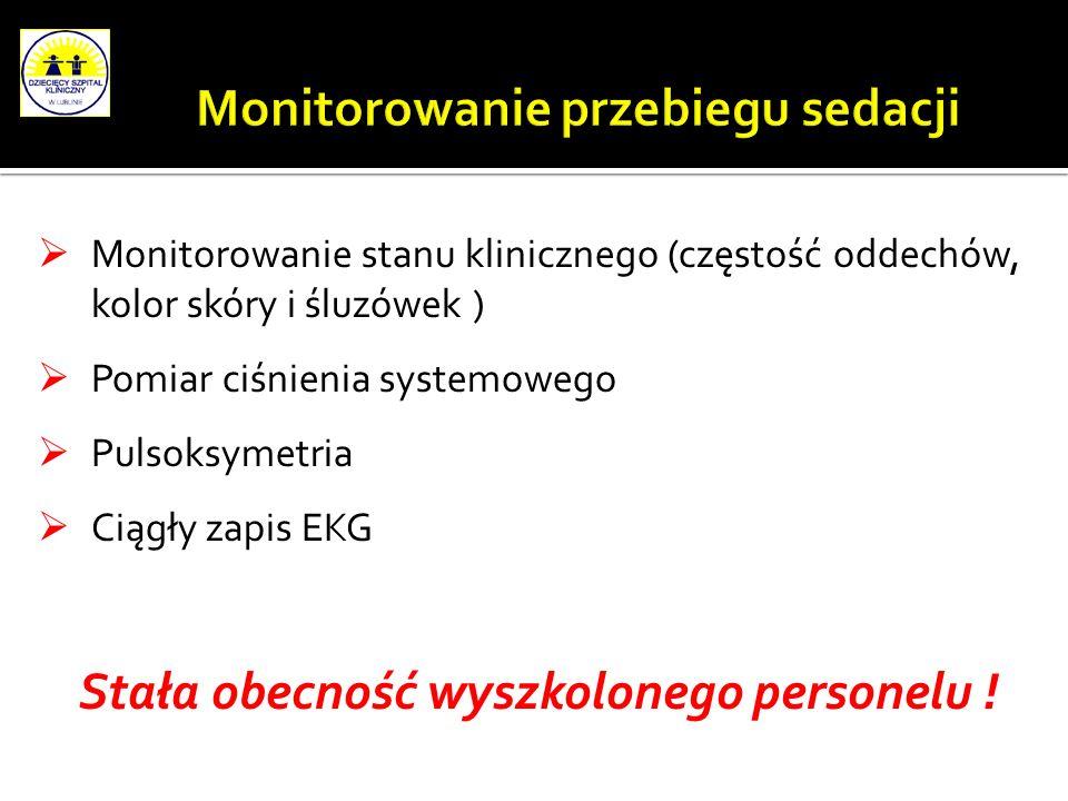 Monitorowanie przebiegu sedacji