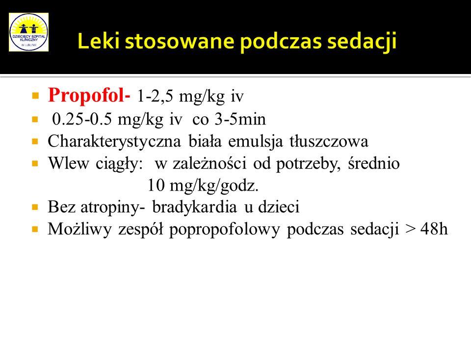 Leki stosowane podczas sedacji
