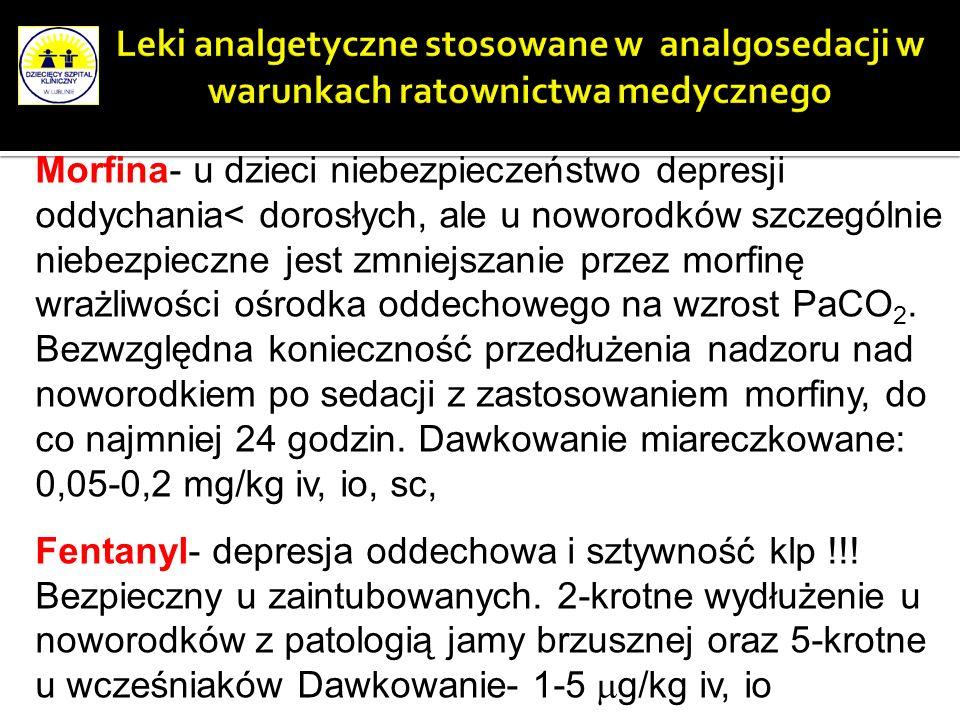 Leki analgetyczne stosowane w analgosedacji w warunkach ratownictwa medycznego