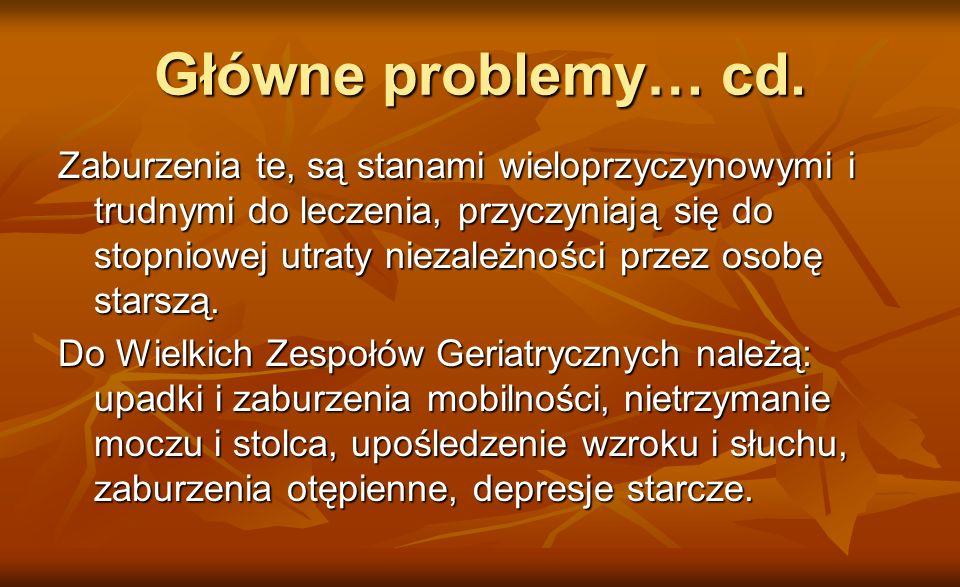 Główne problemy… cd.