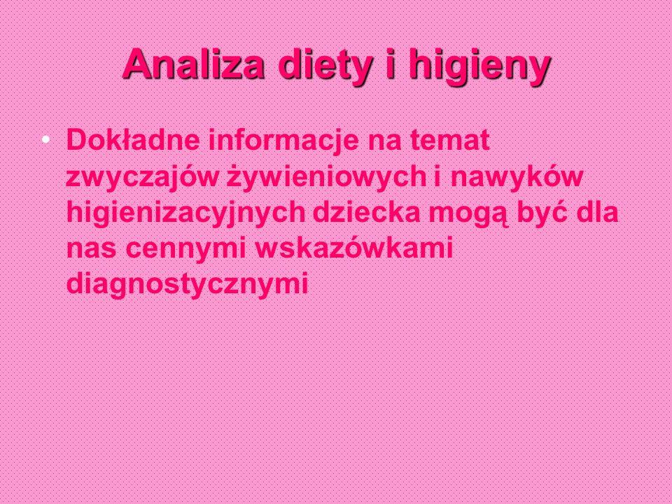 Analiza diety i higieny