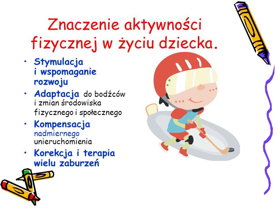 Znaczenie aktywności fizycznej w życiu dziecka.